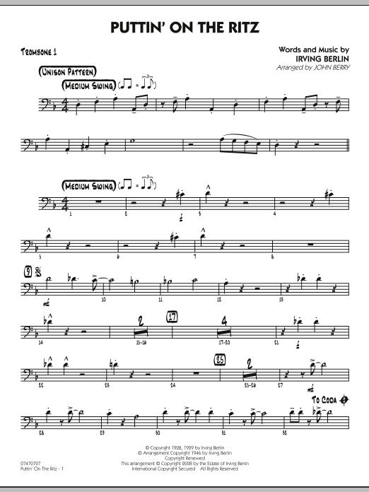 Puttin' On The Ritz - Trombone 1 (Jazz Ensemble)