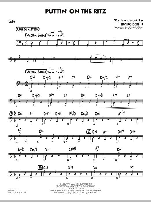 Puttin' On The Ritz - Bass (Jazz Ensemble)