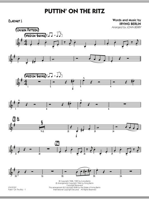 Puttin' On The Ritz - Bb Clarinet 1 (Jazz Ensemble)