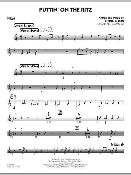 Puttin' On The Ritz - F Horn (Jazz Ensemble)