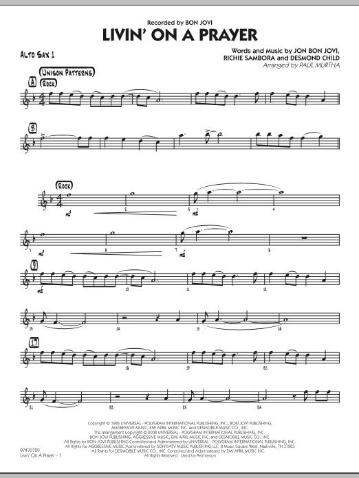 Livin' On A Prayer - Alto Sax 1 (Jazz Ensemble)