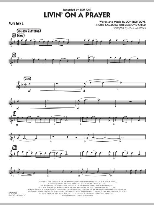 Livin' On A Prayer - Alto Sax 2 (Jazz Ensemble)