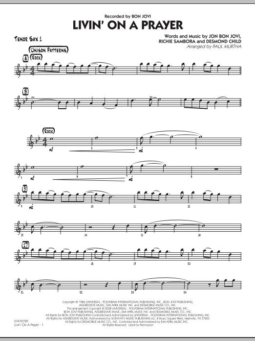Livin' On A Prayer - Tenor Sax 1 (Jazz Ensemble)
