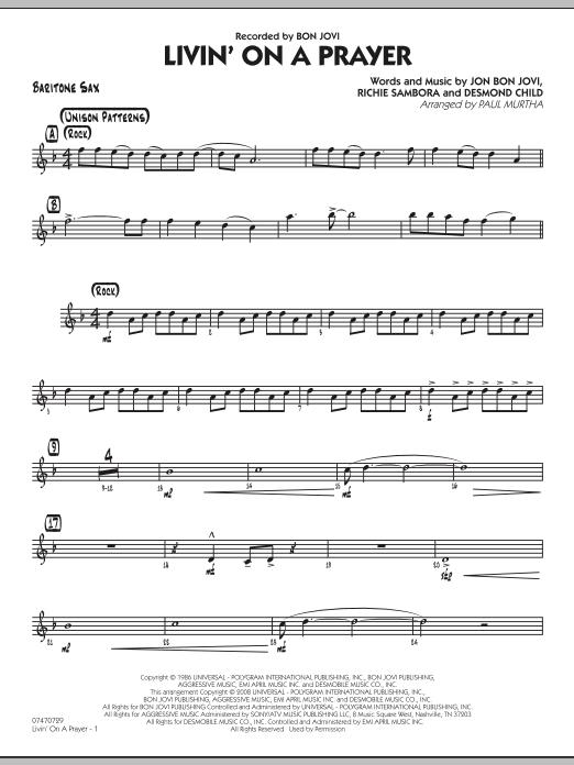 Livin' On A Prayer - Baritone Sax (Jazz Ensemble)