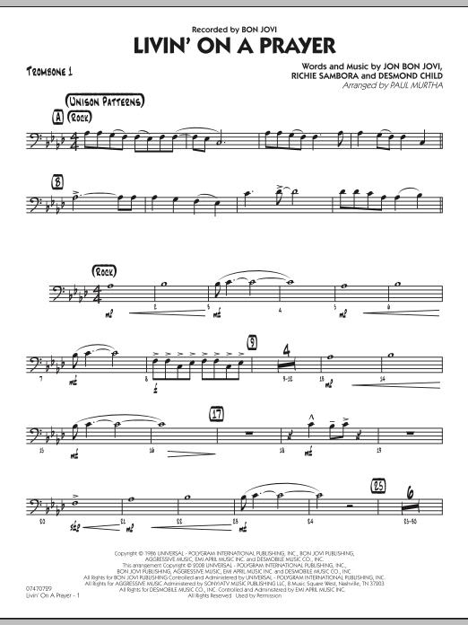 Livin' On A Prayer - Trombone 1 (Jazz Ensemble)