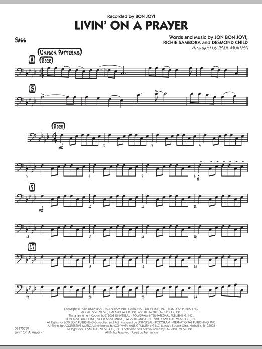 Livin' On A Prayer - Bass (Jazz Ensemble)