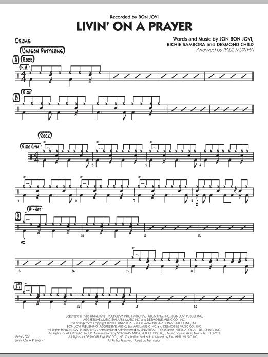 Livin' On A Prayer - Drums (Jazz Ensemble)