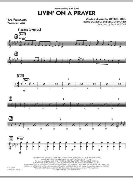 Livin' On A Prayer - Aux Percussion (Jazz Ensemble)