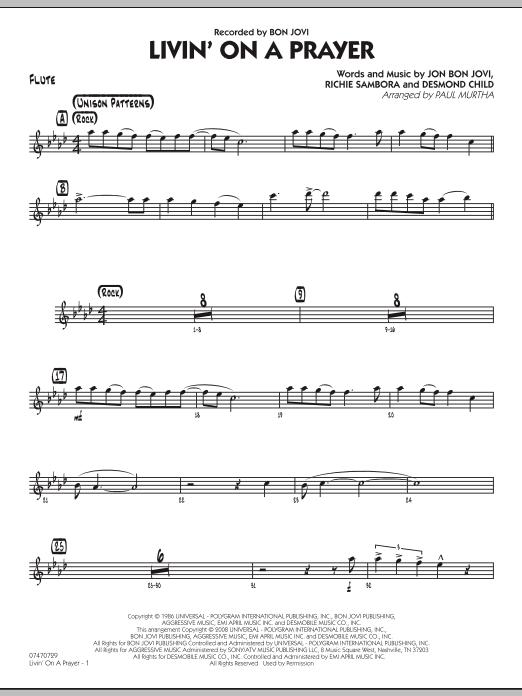 Livin' On A Prayer - Flute (Jazz Ensemble)