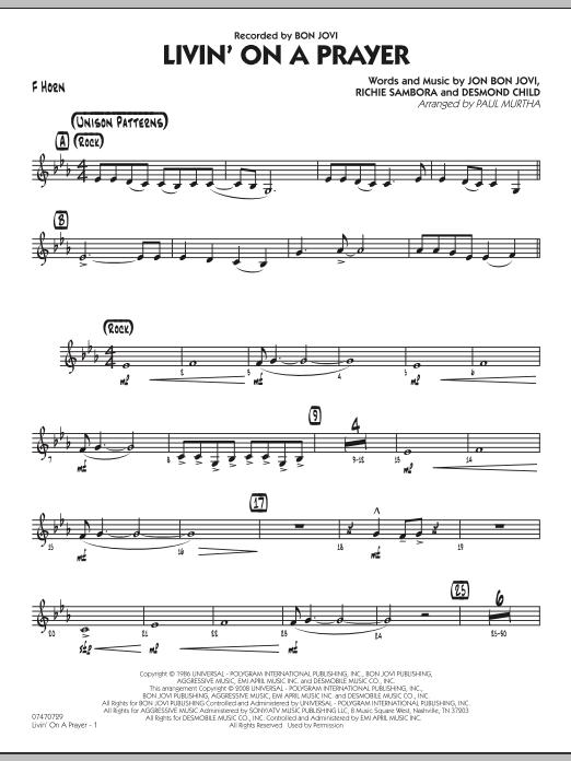 Livin' On A Prayer - F Horn (Jazz Ensemble)