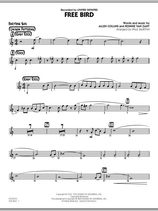 Free Bird - Baritone Sax (Jazz Ensemble)