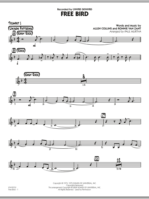 Free Bird - Trumpet 1 (Jazz Ensemble)