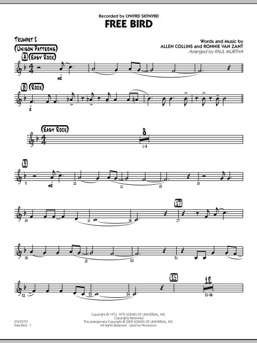 Free Bird - Trumpet 2 (Jazz Ensemble)