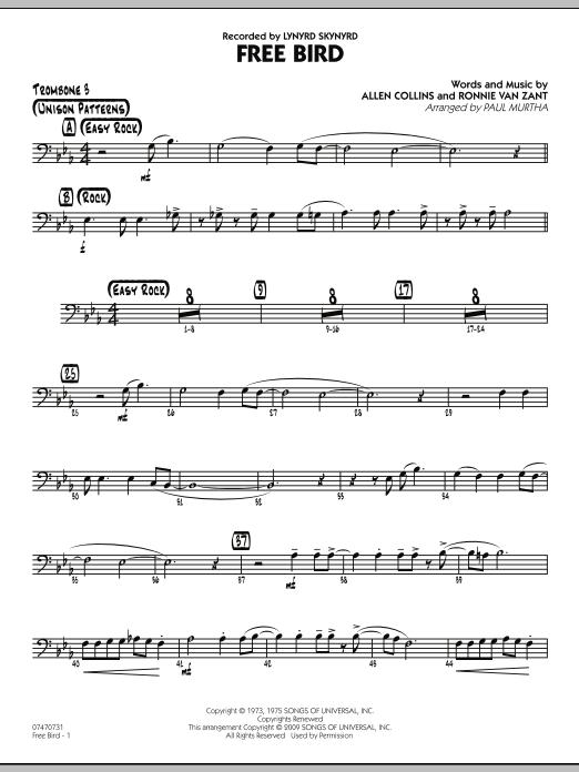 Free Bird - Trombone 3 (Jazz Ensemble)