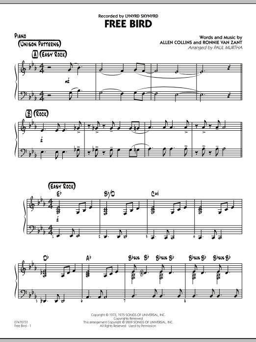 Free Bird - Piano (Jazz Ensemble)