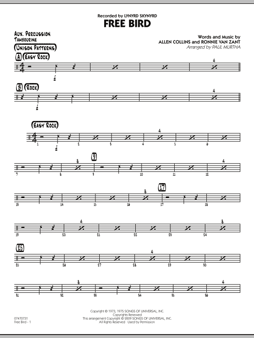 Free Bird - Aux Percussion (Jazz Ensemble)