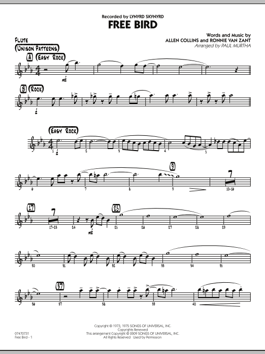 Free Bird - Flute (Jazz Ensemble)