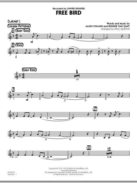 Free Bird - Bb Clarinet 1 (Jazz Ensemble)