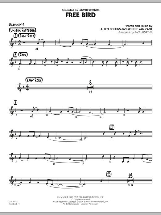 Free Bird - Bb Clarinet 2 (Jazz Ensemble)