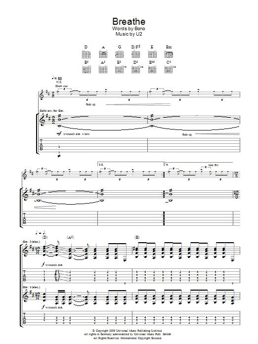 Breathe (Guitar Tab)
