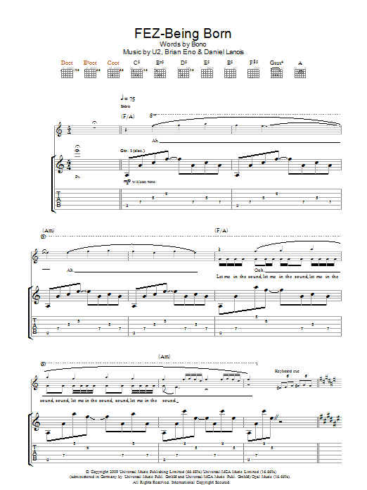 Fez-Being Born (Guitar Tab)
