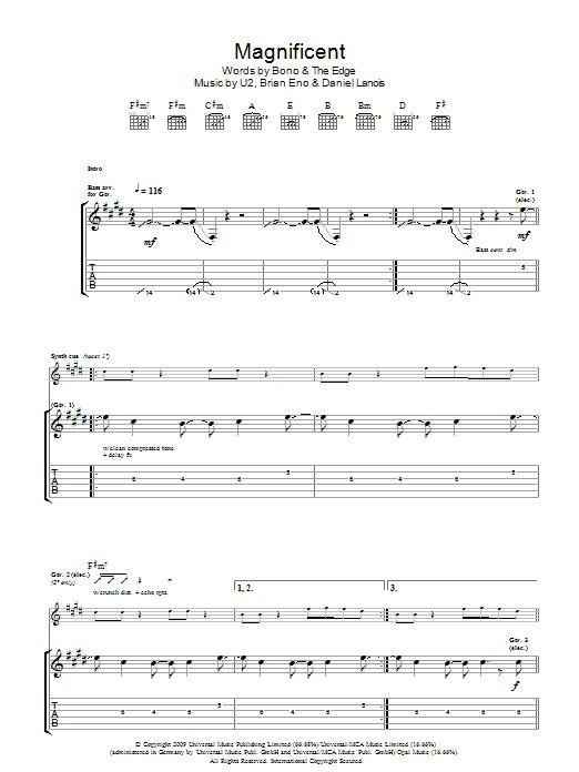 Magnificent (Guitar Tab)