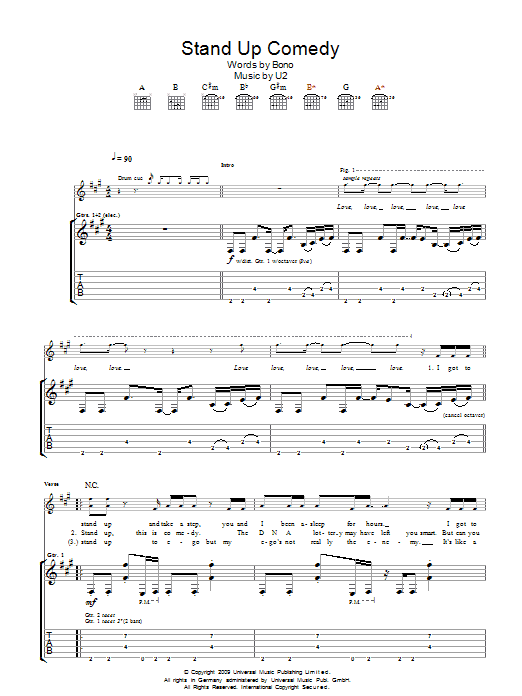 Stand Up Comedy (Guitar Tab)