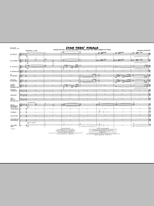 Star Trek Finale - Full Score (Marching Band)
