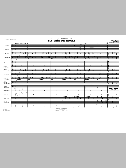 Fly Like An Eagle - Full Score (Marching Band)