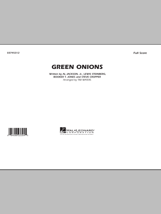 Green Onions (COMPLETE) sheet music for marching band by Tim Waters. Score Image Preview.