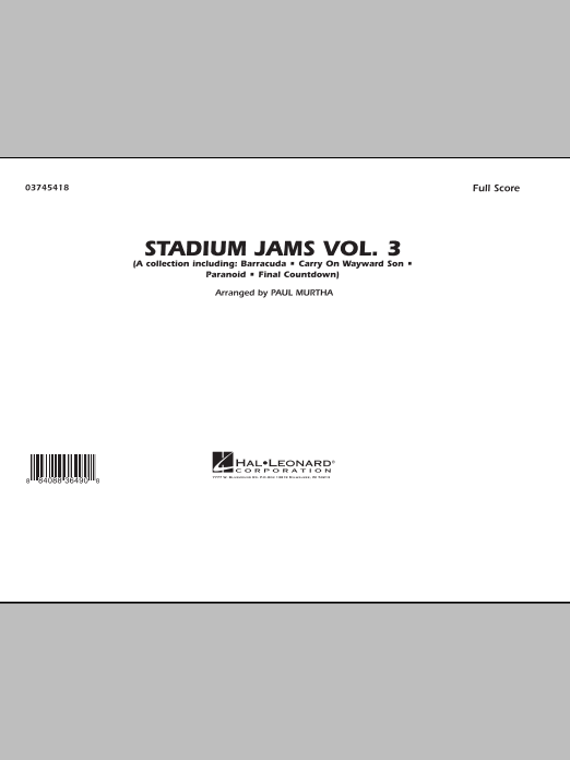 Stadium Jams - Volume 3 (COMPLETE) sheet music for marching band by Paul Murtha. Score Image Preview.
