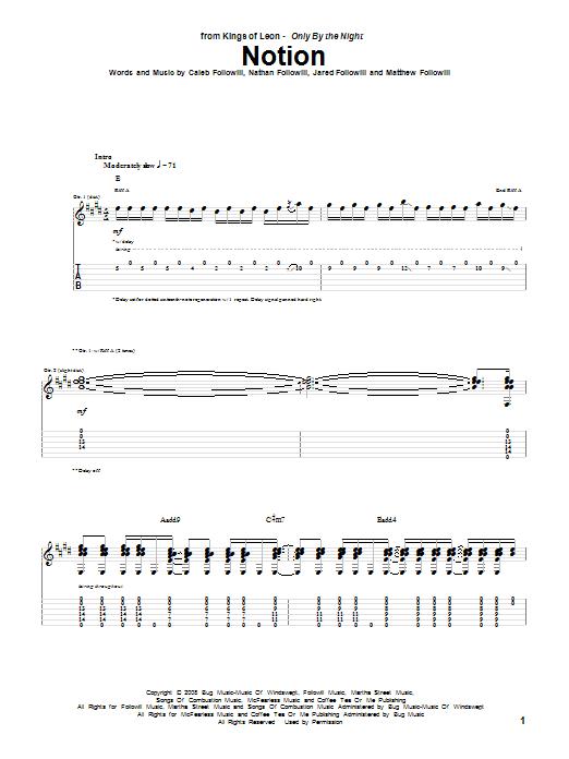 Notion Sheet Music