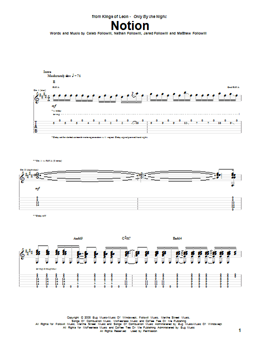 Notion (Guitar Tab)