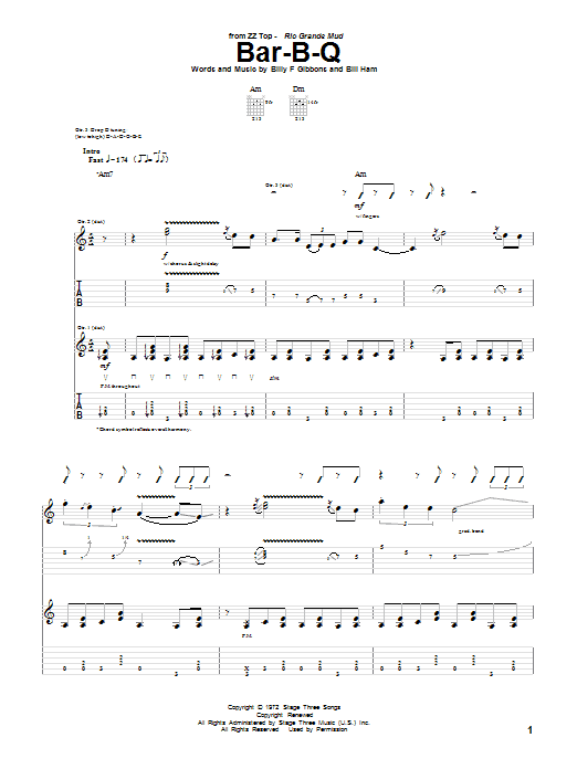 Bar-B-Q Sheet Music