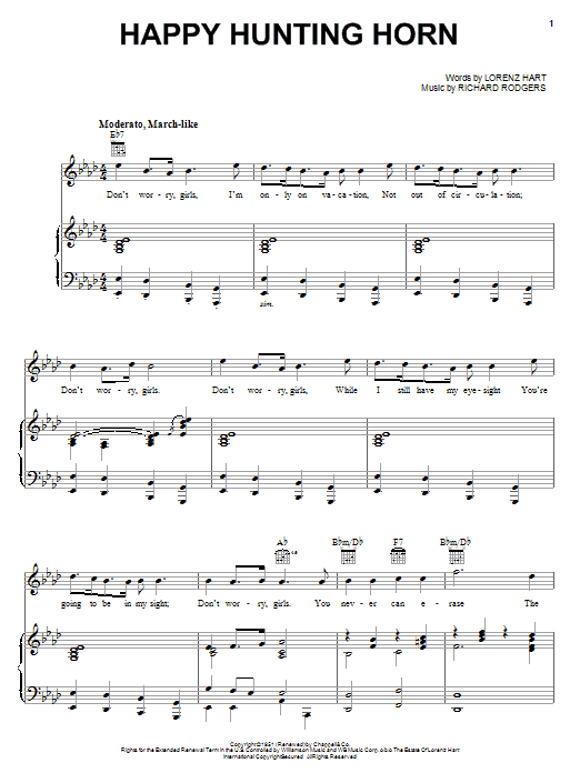 Happy Hunting Horn Sheet Music