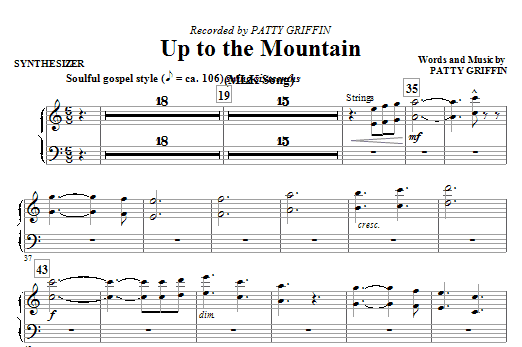 Up To The Mountain (MLK Song) (complete set of parts) sheet music for orchestra/band (Rhythm) by Mac Huff, Kelly Clarkson and Patty Griffin. Score Image Preview.