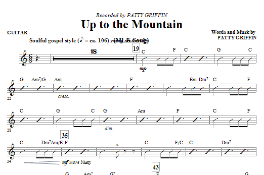 Up To The Mountain (MLK Song) - Guitar Sheet Music