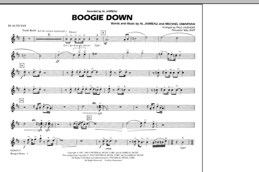 Boogie Down - Eb Alto Sax (Marching Band)