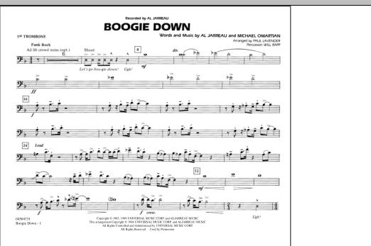 Boogie Down - 1st Trombone (Marching Band)