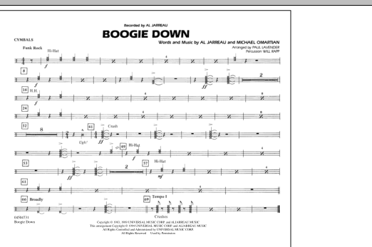 Boogie Down - Cymbals (Marching Band)