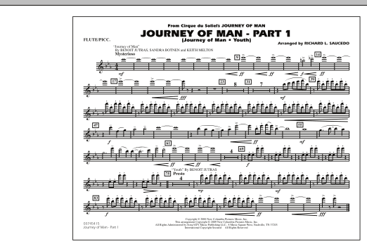 Journey of Man - Part 1 (Journey of Man: Youth) - Flute/Piccolo (Marching Band)