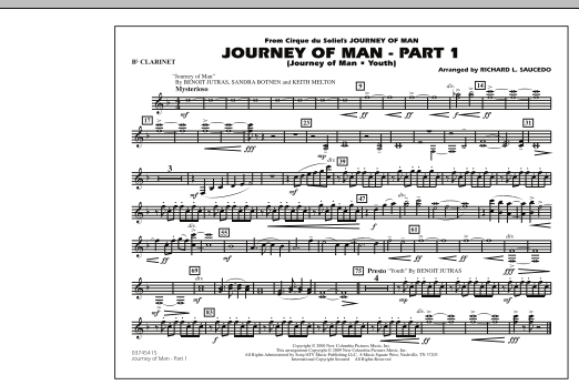 Journey of Man - Part 1 (Journey of Man: Youth) - Bb Clarinet (Marching Band)