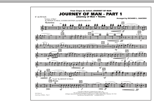 Journey of Man - Part 1 (Journey of Man: Youth) - Eb Alto Sax (Marching Band)