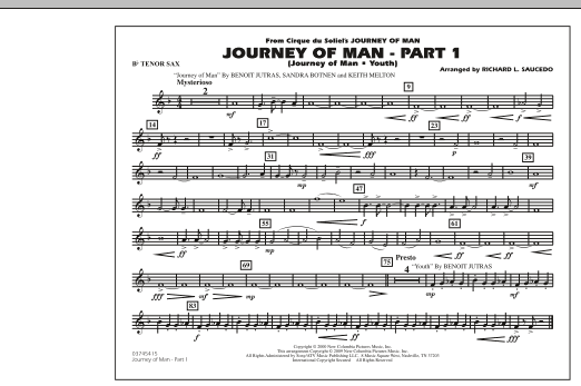 Journey of Man - Part 1 (Journey of Man: Youth) - Bb Tenor Sax (Marching Band)