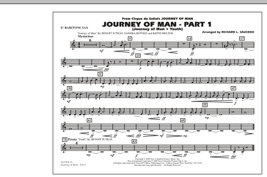 Journey of Man - Part 1 (Journey of Man: Youth) - Eb Baritone Sax (Marching Band)
