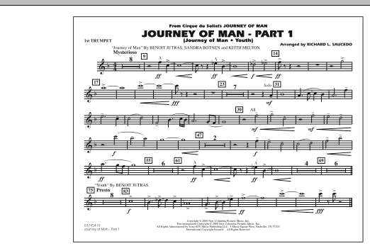 Journey of Man - Part 1 (Journey of Man: Youth) - 1st Bb Trumpet (Marching Band)