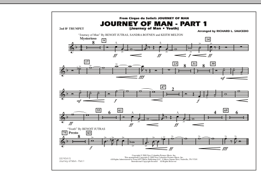 Journey of Man - Part 1 (Journey of Man: Youth) - 2nd Bb Trumpet (Marching Band)