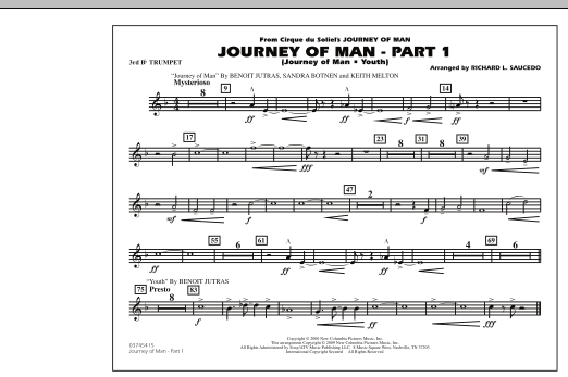Journey of Man - Part 1 (Journey of Man: Youth) - 3rd Bb Trumpet (Marching Band)
