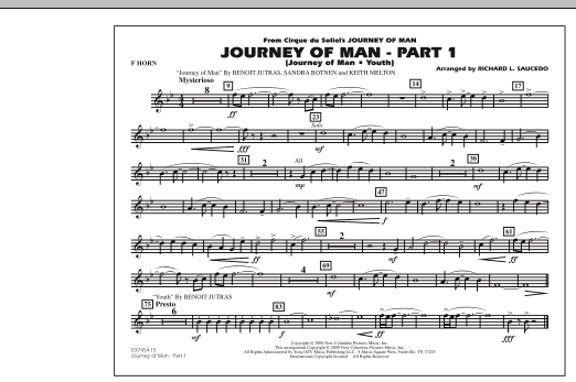 Journey of Man - Part 1 (Journey of Man: Youth) - F Horn (Marching Band)