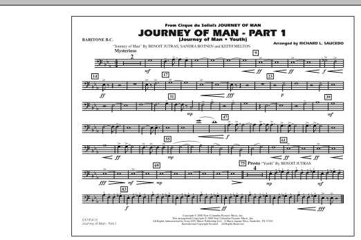 Journey of Man - Part 1 (Journey of Man: Youth) - Baritone B.C. (Marching Band)